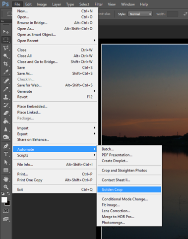 Photoshop can guide your Compositions – The Golden Hour